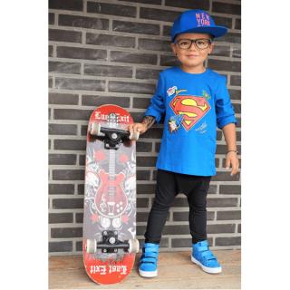 LONGSLEEVE-SUPERMAN-BLAUW-SUPERHELDEN-KINDERKLEDING