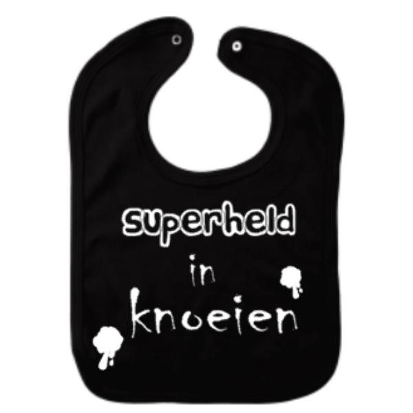 babyslab superheld in knoeien