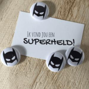 button batman masker traktatie kinderfeestje