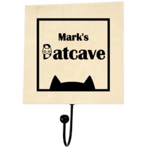 Kledinghaak Batcave met naam-superheldenshop