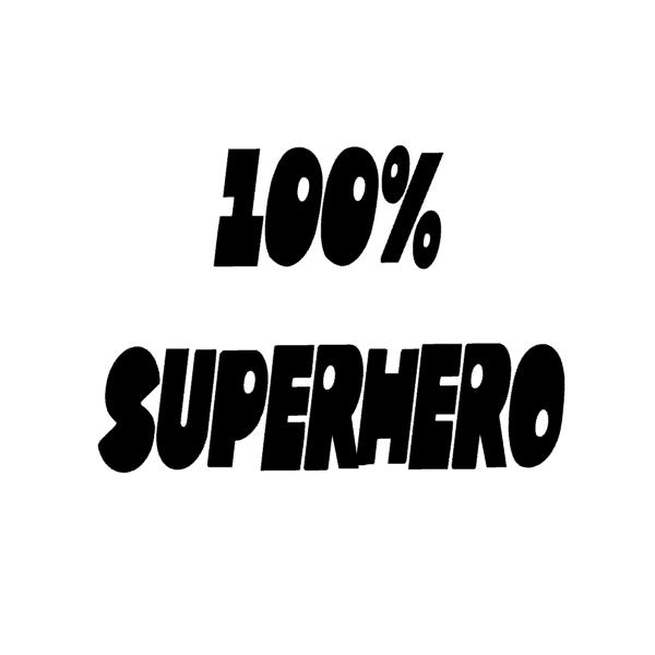 Muursticker-100%-superhero-28x24cm-superheldenshop