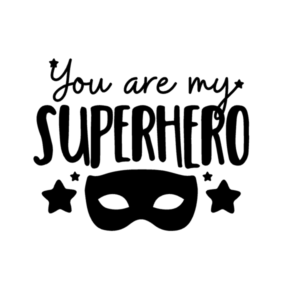 superhelden-kinderkamer-Muursticker- You- are -my -Superhero-superheldenshop