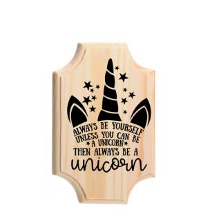 houten bordje kinderkameraccessoires unicorn