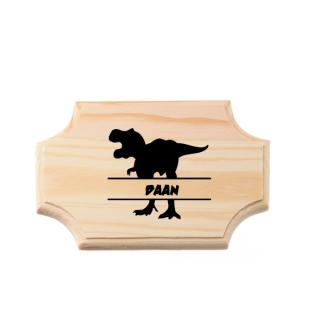 houten bordje dino met naam
