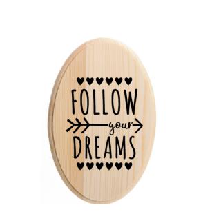 kinderkameraccessoires houten bordje follow your dreams
