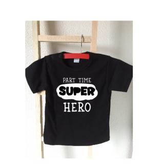 part time superhero baby tshirt
