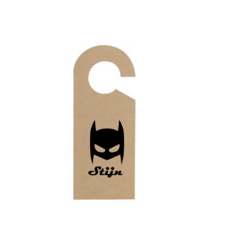 deurhanger met naam batman koop je bij Superheldenshop