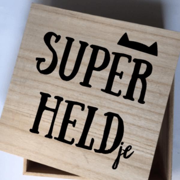 geboorte kraamkado superheldje