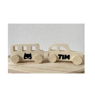 houten geboortekado batman auto