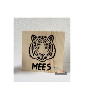 decoratie blok tijger junglekamer kinderkamer