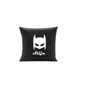 kussen superhero met naam batman masker