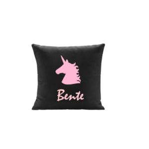 Unicorn kussen monochrome roze