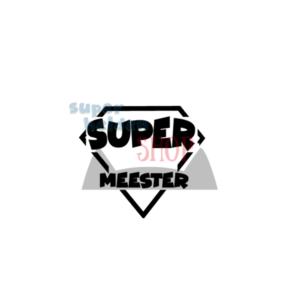 strijkapplicatie supermeester tshirt