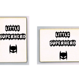 houten kaart little superhero