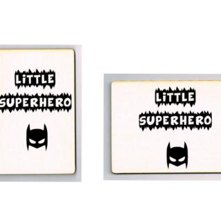 houten kaart little superhero