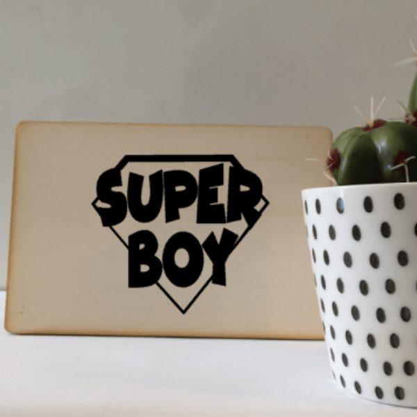 houten kaart Superboy