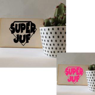 houten kaart superjuf