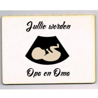 houten ansichtkaart opa oma echo