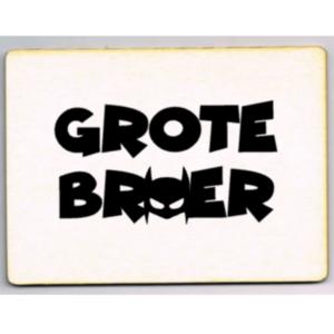 houten kaart Grote broer