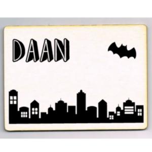 kaart skyline batman met naam
