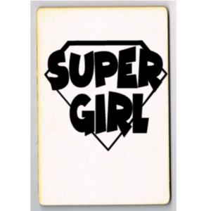 houten kaart supergirl