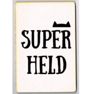 unieke ansichtkaart Superheld