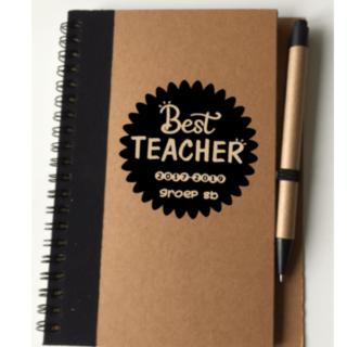 notitieboekje juf meester Best Teacher