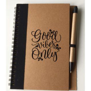 good vibes only notitieboekje