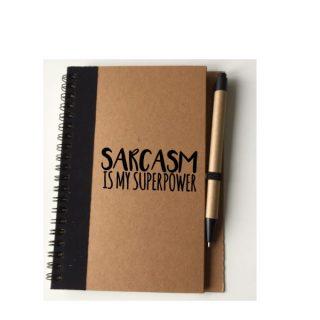 sarcasm is my superpower notitieboekje