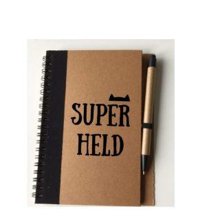 notitieboekje pen superheld