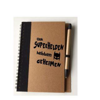 boekje superhelden geheimen met pen