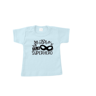 tshirt my bro is a superhero blauw