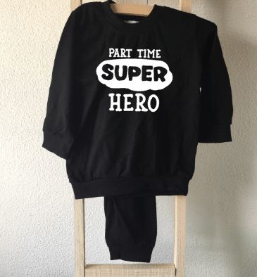 pyjama part time superhero babykleding