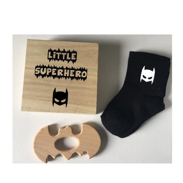 kraamkado batman sokjes bijtring