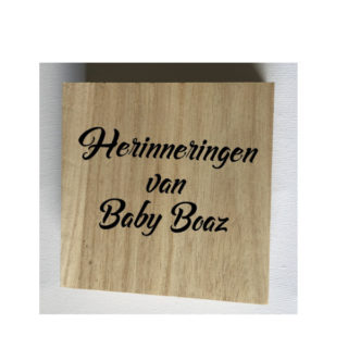 herinneringen van baby met naam houten doosje