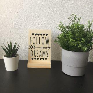 kaart follow your dreams woonkaart