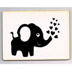 houten kaart olifant hartjes