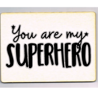 kaart you are my superhero woonkaart