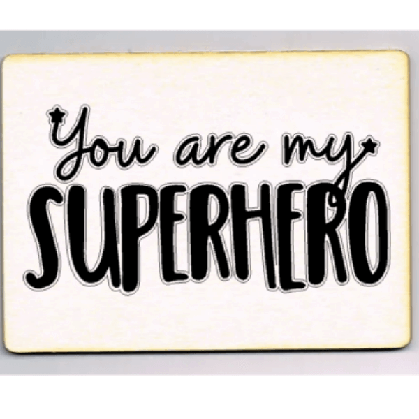 kaart you are my superhero woonkaart