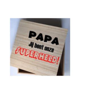 kadobox papa jij bent onze superheld