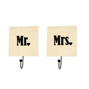 kapstok mr mrs huwelijkskado