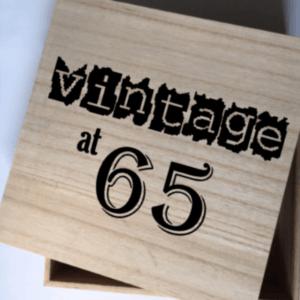 Vintage kadobox leeftijd verjaardag