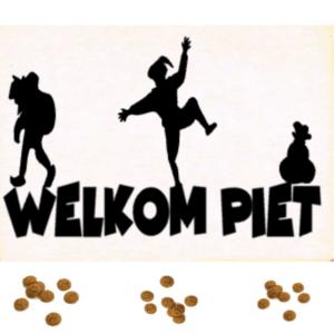Houten kaart Welkom Piet