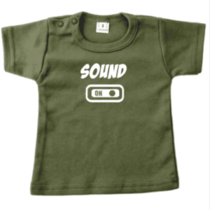 tshirt baby knop sound on