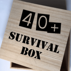 40+ survival box kadobox leeftijd