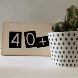 kaart 40+ verjaardag