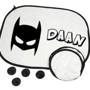 auto zonnescherm batman met naam