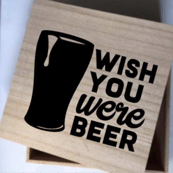 afscheid bierliefhebber wish you were beer