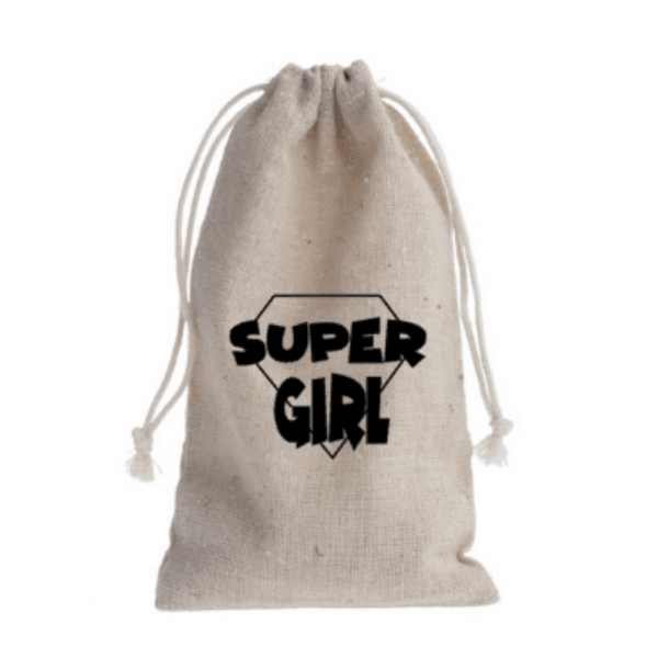traktatiezakje supergirl linnen naturel