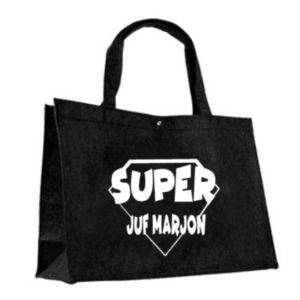 Vilten tas superjuf met naam